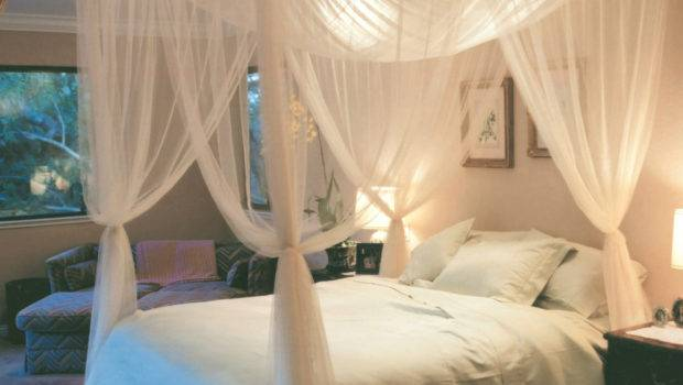 Details Corner Post Bed Canopy Mosquito Queen King