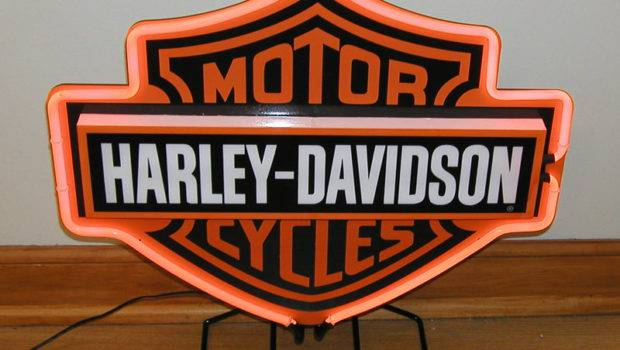 Details Harley Davidson Motor Cycles Wall Neon Sign