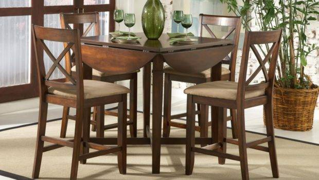 Dining Room Beautiful Dark Brown Wood Glass Simple Design Table