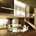 Dining Room Modern Sleek Beach House Design Home