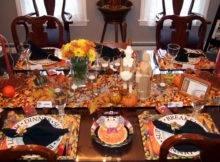 Dining Table Setting Thanksgiving