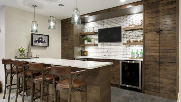 Distinguished Rustic Home Bar Designs