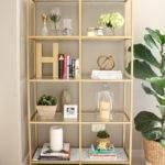 Diy Gold Bookshelf House Hawkes