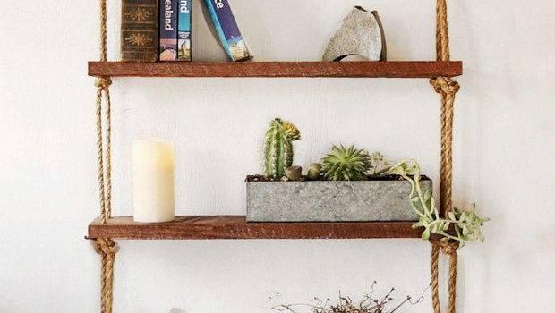 Diy Hanging Rope Shelf Ideas Home Tweaks