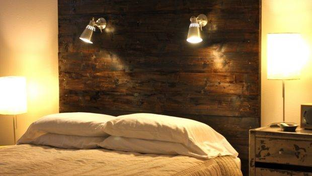 Diy Headboard Wooden Wall Lamp Designs