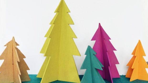 Diy Modern Wooden Christmas Trees