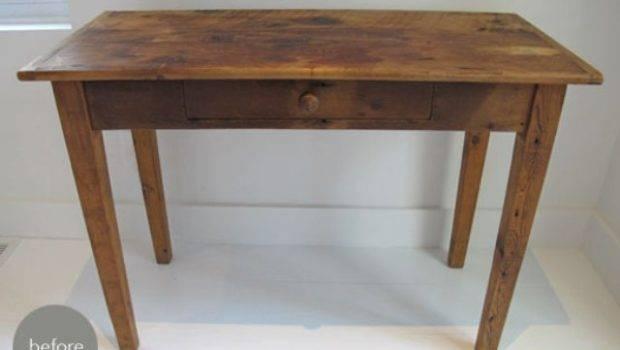 Diy Old Desk Painting Crafts