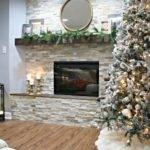 Diy Stacked Stone Fireplace There None