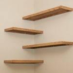 Diy Wood Floating Corner Wall Shelf Spacesaver Small