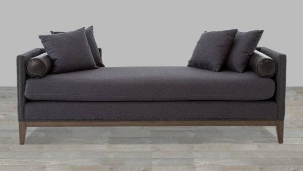 Double Chaise Sofa Charcoal Felt