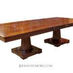 Double Dining Table Pedestal