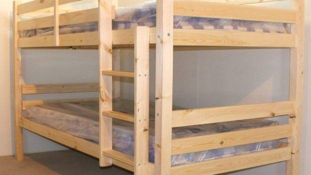 Double High Heavy Duty Pine Bunk Bed Strictly Beds Bunks