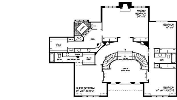Double Staircase Floor Plans Homes