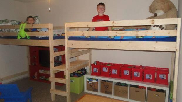 Double Twin Camp Loft Bed Boy Room Pinterest