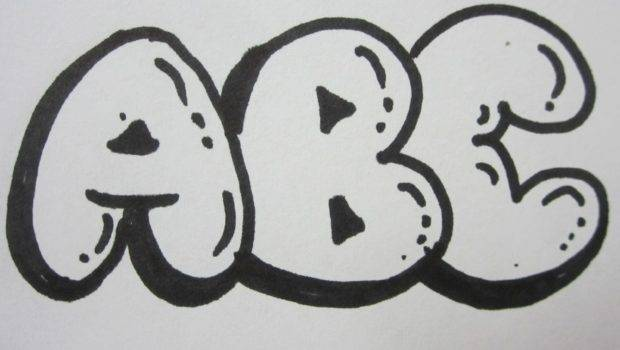 Draw Bubble Letters All Capital Youtube