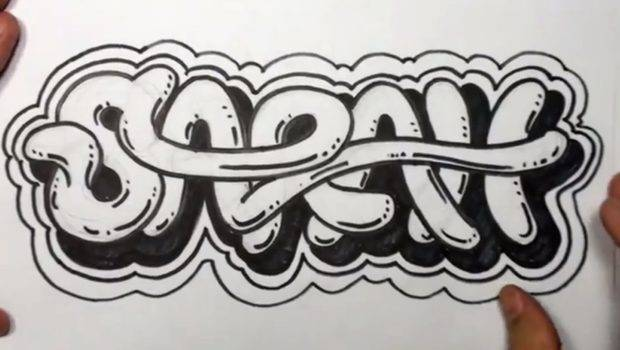 Draw Graffiti Letters Write Sarah Cool Youtube