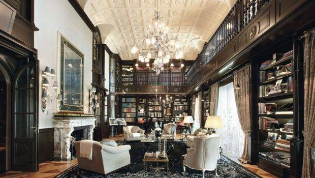 Dream Home Libraries Room Extends Beyond Four