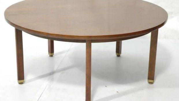 Dunbar Round Cocktail Coffee Table Square Wood Lot