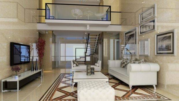 Duplex House Living Room Design Stairs Dining