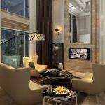 Duplex Living Room Design Villa Pillars