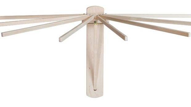 Economy Amish Folding Umbrella Wall Clothes Drying Rack
