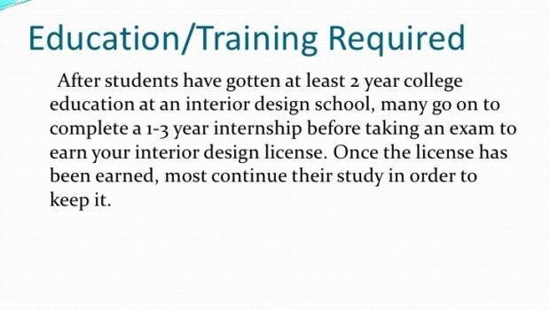 Education Training Needed Interior Designer