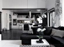 Elegant Black White Interior Design Comfortable