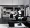 Elegant Black White Interior Design Comfortable