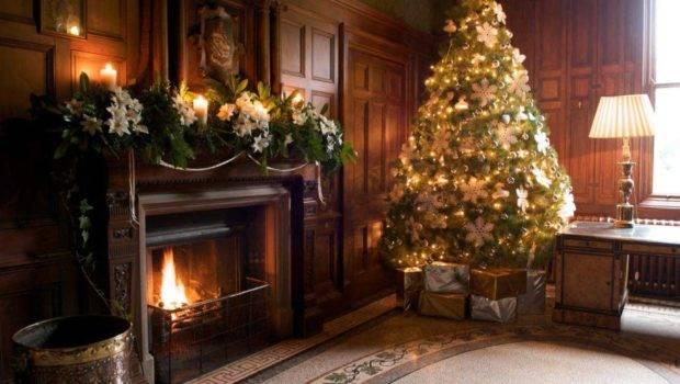 Elegant Christmas Mantel Decorations Living Room Design