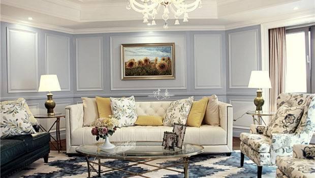 Elegant Living Room European Style Home Design