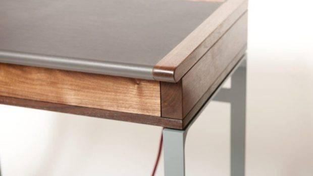 Elegant Modern Desk Vintage Touch Digsdigs
