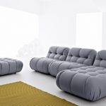 Elegant Modern Sofa Steely Silver Stylish Nuvolone Mimo