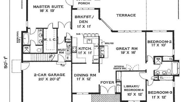 Elegant One Story Home Bedrooms Baths