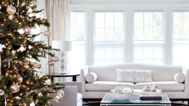 Elegant White Home Decorated Christmas Toronto