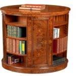Elm Bookcase Round Revolving Table