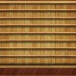 Empty Bookshelf Shelf