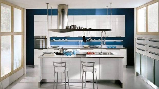 Enchanting Blue Kitchen Ideas Dark Wall Paint Color