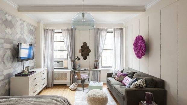 Energizing Feminine Small Studio Apartment Manhattan