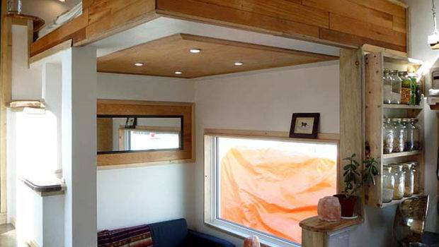 Energy Efficient Tiny Home Built Tundra Leaf House Living Area