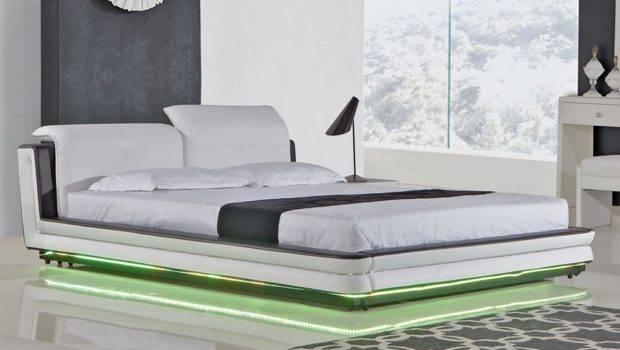 Evita Modern Platform Bed Lights