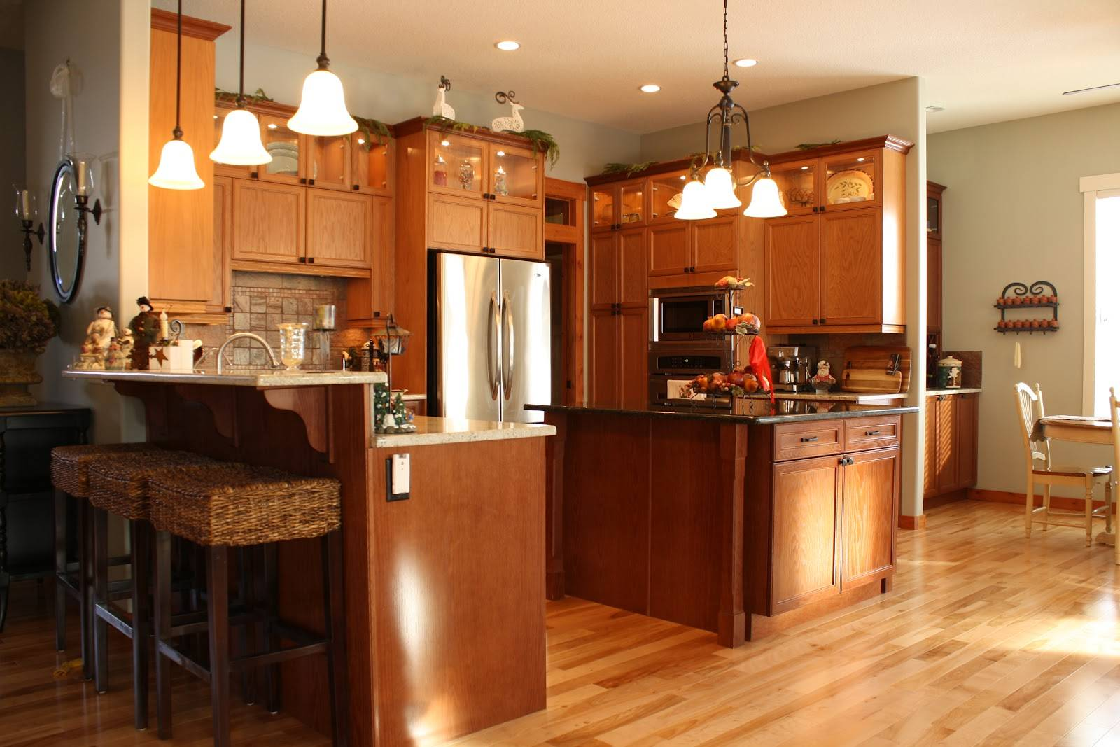 Exotic Wood Kitchen Cabinets Willow Wisp Cottage Facelift ...