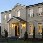 Exterior French Doors Feature Lighting House Facade
