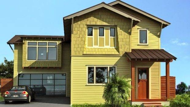 Exterior Wall Painting Color Combination