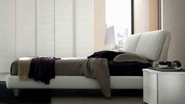 Fabric Storage Bed Upholstered Headboard Adjustable Headrest