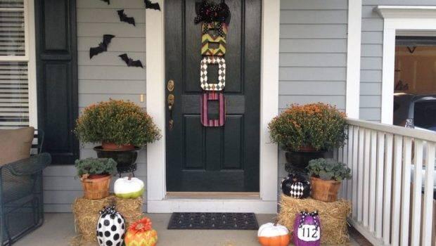 Fall Halloween Front Porch Cute Holiday Decor Ideas Pinterest