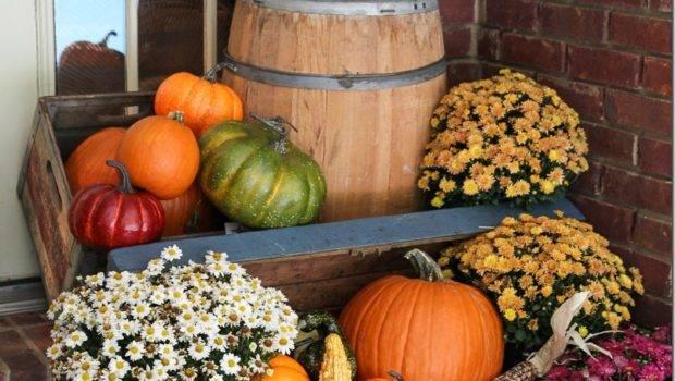 Fall Porch Decor Plants Pumpkins Unskinny Boppy