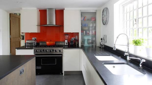 Fancy Balance Red Accent Luxury Kitchen Design