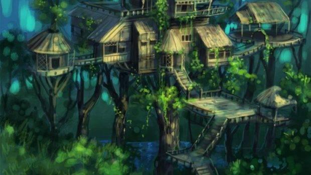 Fantasy Tree Houses Pinterest Rainforests