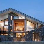 Fashionable Modern Mountain Home Glass Concrete Well Lighting