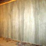 Faux Finish Painted Cement Mural Wall